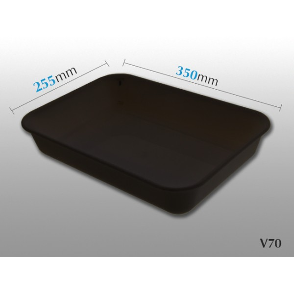bac rectangulaire v70 noir 350 x 255 mm etiqshop sas. Black Bedroom Furniture Sets. Home Design Ideas