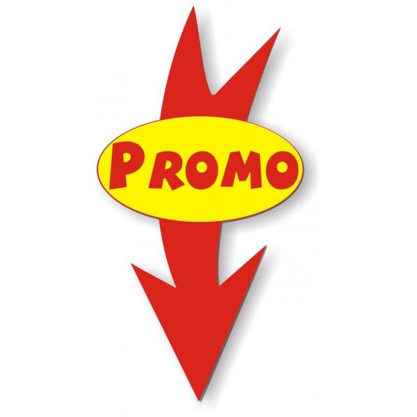 Souvent BIG FLECHE Ovale Rouge Fond Jaune / Texte PROMO Rouge - EtiqShop SAS CE03