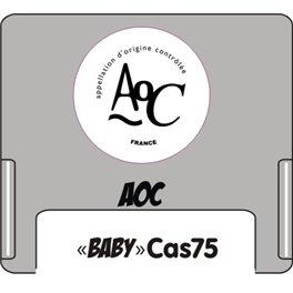 """Casquette amovible pour étiquettes avec texte """"AOC"""" noir sur fond blanc"""