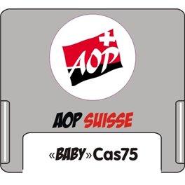 """Casquette amovible pour étiquettes avec texte """"AOP"""" suisse"""
