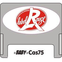 """Casquette amovible pour étiquettes avec texte """"Label Rouge"""" rouge sur fond blanc"""