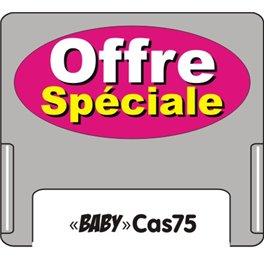 """Casquette amovible pour étiquettes avec texte """"Offre spéciale"""" blanc sur fond rose"""