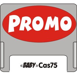 """Casquette amovible petit format pour étiquettes avec texte """"Promo"""" blanc sur fond rouge"""