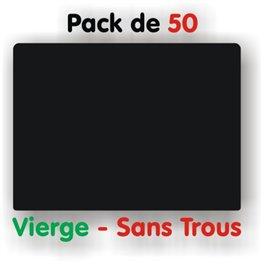 Pack d'étiquettes noires vierges petit format