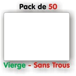 Pack d'étiquettes blanches vierges sans trous petit format