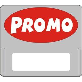 """Casquette amovible pour étiquettes avec texte """"Promo"""" blanc sur fond rouge"""