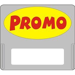 """Casquette amovible pour étiquettes avec texte """"Promo"""" rouge sur fond jaune"""