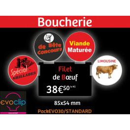 Evoclip Pack30 STANDARD amovible pour étiquettes