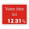Pique-prix BOUCHERIE gravée titrée 913 Fond Rouge / Texte Blanc