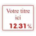 Etiquette pour affichage prix BOUCHERIE gravée titrée 920 Fond Blanc / Texte Rouge