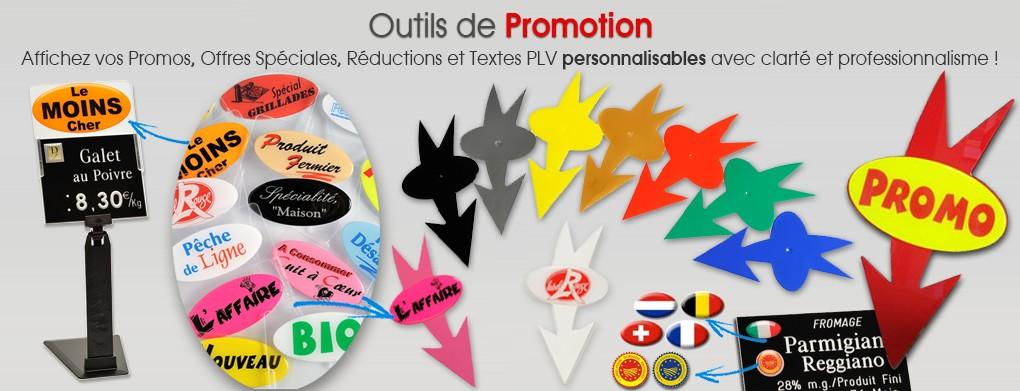 Outils de promotion et PLV