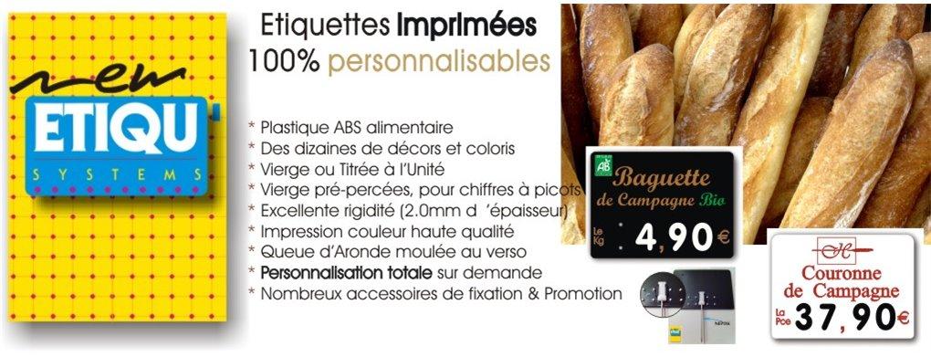 Etiquettes imprimées Boulangerie