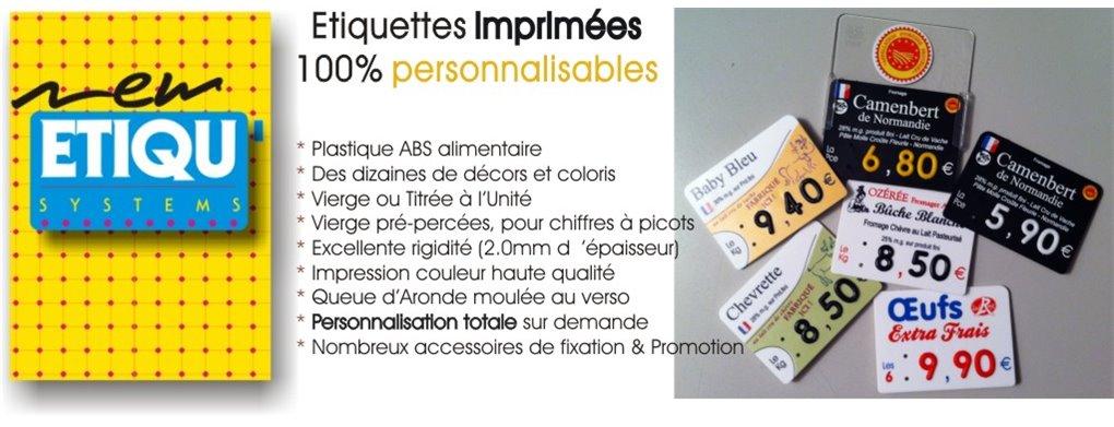 Etiquettes imprimées Fromagerie