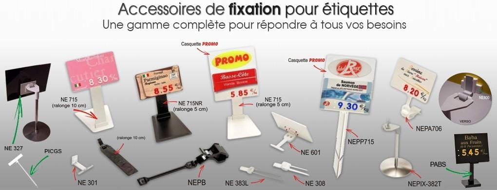 Accessoires de fixation pour étiquette