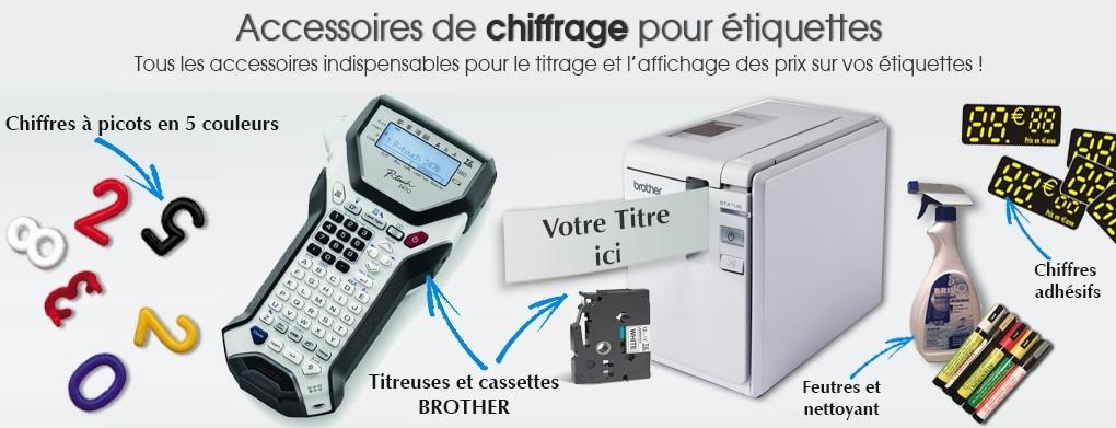 Accessoires de chiffrage pour étiquette